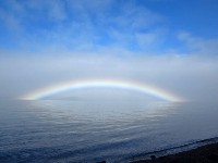 Fogbow Over Parrsboro, looking across the Minas Channel of the Bay of Fundy