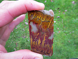 Golden Flame Agate Slab